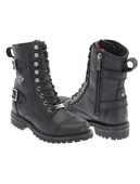 Harley-Davidson® Womens Balsa Black Leather Mid Cut Boot