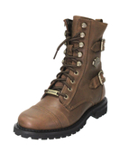 Harley-Davidson® Womens Balsa Brown Leather Mid Cut Boot