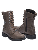 Harley-Davidson® Womens Balsa Grey Leather Mid Cut Boot