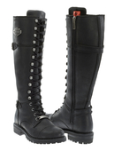 Harley-Davidson® Womens Beechwood Black Leather High Cut Boot