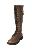 Harley-Davidson® Womens Beechwood Brown Leather High Cut Riding Boot