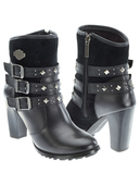 Harley-Davidson® Womens Abbey Black Leather Low Cut Boot