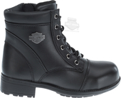 Harley-Davidson® Womens Raine Steel Toe Black Leather Low Cut Boot
