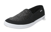 Harley-Davidson® Womens Mading Glittered Black Canvas Casual Shoe