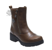 Harley-Davidson® Womens Amherst Brown Leather Low Cut Boot