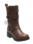 Harley-Davidson® Womens Ardsley Brown Leather Mid Cut Boot