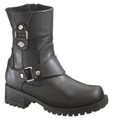 Harley-Davidson® Womens Alivia Black Mid Cut Boot - H-D® Dealer Exclusive