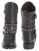Harley-Davidson® Womens Adrian Black Leather Mid Cut Boot - H-D® Dealer Exclusive