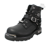 Harley-Davidson® Womens Becky Black Leather Low Cut Boot - H-D® Dealer Exclusive