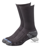 Harley-Davidson® Womens Crew Fit Performance Cruiser Coolmax® Socks Black Poly Blend