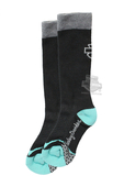 Harley-Davidson® Womens Coolmax® Performance Rider Teal Poly Blend Socks