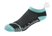 Harley-Davidson® Womens Coolmax® Performance Rider Low Cut Teal Poly Blend Socks