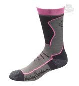 Harley-Davidson® Womens Coolmax® Performance Crew Riding Pink Poly Blend Socks