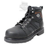 Harley-Davidson® Mens Chad Black Leather Low Cut Steel Toe Boot