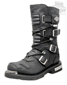 Harley-Davidson® Mens Axel Black Leather High Cut Boot - H-D® Dealer Exclusive