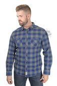 Harley-Davidson® Mens Slim Fit Acid Washed Plaid Long Sleeve Woven Shirt