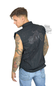 Harley-Davidson® Mens Over A Century Strong Motorcycle Graphic Black Sleeveless Blowout