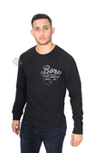 Harley-Davidson® Slim Fit Mens Born For Speed Quilted Pullover Black Long Sleeve Sweatshirt