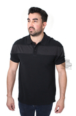Harley-Davidson® Mens Chest Stripe B&S Black Short Sleeve Polo