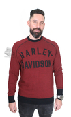 ** SIZE MEDIUM ONLY ** Harley-Davidson® Mens Vintage Inspired H-D Name Pullover Red Long Sleeve Sweatshirt