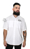 Harley-Davidson® Mens Performance Fast-Dry Vented with Mesh Panels White Short Sleeve Woven Shirt