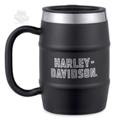 Harley-Davidson® Mens Insulated 16 oz. Stainless Steel Barrel Black Mug