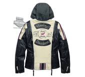 Harley-Davidson® Womens Alyssa Action Back Distressed 3-In-1 Stone Leather Jacket