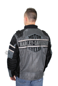 Harley-Davidson® Mens Codec Trademark B&S Textile with Mesh Reflective Black Functional Jacket
