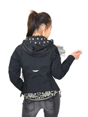 ** SIZE X-SMALL ONLY ** Harley-Davidson® Womens Westerlie Windproof with Lacing Bandana Accent Black Functional