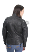 Harley-Davidson® Womens Beechwood Pebbled Texture with Quilted Liner Black Leather Jacket