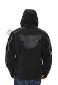 Harley-Davidson® Mens Headway Eagle Waterproof Fleece Hooded Black Functional Jacket