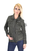 ** SMALL & BIG SIZES ONLY ** Harley-Davidson® Slim Fit Womens Anorak Parachute Zipper Front Green Casual Jacket