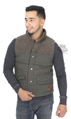 Harley-Davidson® Mens Slim Fit Canvas & Corduroy Green Vest