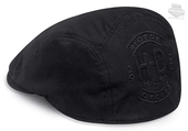 Harley-Davidson® Mens Embossed H-D with Sweatband Black Cotton Ivy Cap