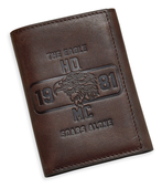 Harley-Davidson® Mens The Eagle Soars Alone 1981 Black Leather Trifold Wallet