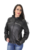 Harley-Davidson® Womens Miss Enthusiast 3-In-1 Black Leather Jacket