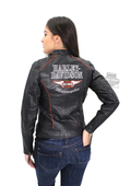 Harley-Davidson® Womens Epoch Winged B&S Black Leather Jacket