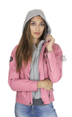 Harley-Davidson® Womens Pink Label 3-in-1 Vintage Look Pink Leather Jacket