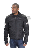 Harley-Davidson® Mens FXRG® Triple Vent System™ Switchback Reflective Black Functional Jacket