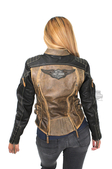 Harley-Davidson® Womens Capitol Winged B&S Vintage Brown Leather Jacket