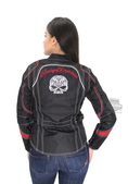Harley-Davidson® Womens Scroll Willie G Skull Reflective Water Resistant Black Functional Jacket