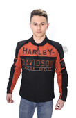Harley-Davidson® Mens Gastone Riding Trademark B&S Reflective Black Functional Jacket