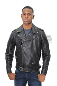 ** SIZE SMALL ONLY ** Harley-Davidson® Slim Fit Mens #1 Skull Patch Waxed Finish Biker Black Leather Jacket