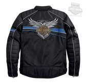 Harley-Davidson® Mens 115th Anniversary Mesh Riding Black Functional Jacket