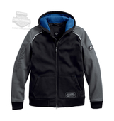 Harley-Davidson® Mens 115th Anniversary Windproof Black Label Slim Fit Black Functional Jacket