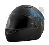 Harley-Davidson® Mens 115th Anniversary Eagle H28 Matte Black Full Face Helmet