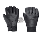 Harley-Davidson® Mens Cyrus Waterproof with 3M™ Thinsulate™ Insulation Black Leather Full Finger
