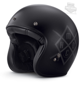 Harley-Davidson® Mens HDMC Retro with Soft Inner Liner Black 3/4 Face Helmet