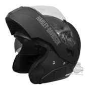 ** SMALL SIZES ONLY ** Harley-Davidson® Mens Retractable Sun Shield Flat Black Full Face Modular Helmet *48HR*