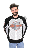 ** SMALL SIZES ONLY ** Harley-Davidson® *GMAR* Mens Bar & Shield Logo Mesh White Functional Jacket *72H2*